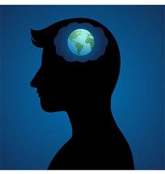 World Thinker vector image vector image