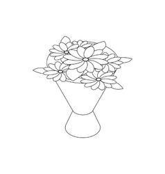 Bouquet icon isometric 3d style vector image
