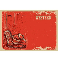 Cowboys lifeWestern background for text vector image vector image