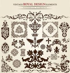 Flower vintage royal design vector