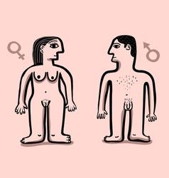 human nude couple vector image vector image