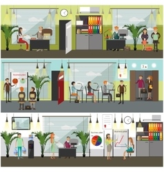 Office concept in flat style vector image vector image