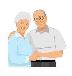 older couple hugs vector image vector image