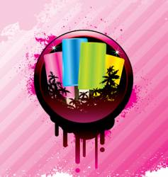 tropical ice cream vector image vector image