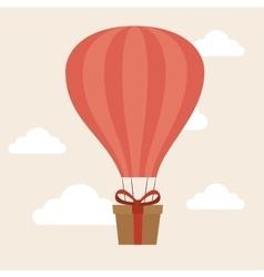 Airballoon delivery concept gift box cargo vector