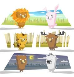 Animals collection team vector