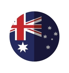 australia flag color stars with shadow vector image