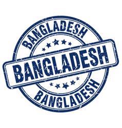 Bangladesh blue grunge round vintage rubber stamp vector