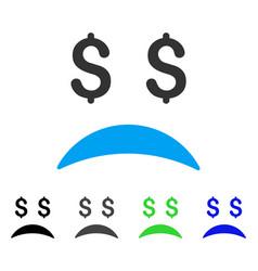 bankrupt sad emotion flat icon vector image