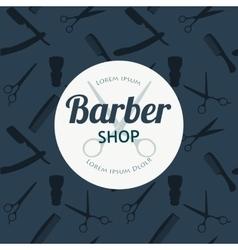 Barber Shop or Hairdresser background set with vector