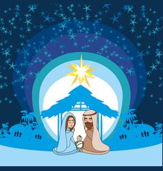 Birth jesus in bethlehem vector