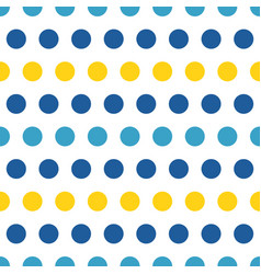 blue and yellow polka dots seamless pattern vector image