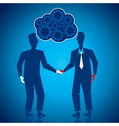 both businessmen shake hand vector image