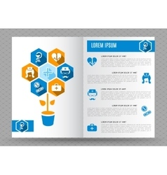 Brochure medical design template vector