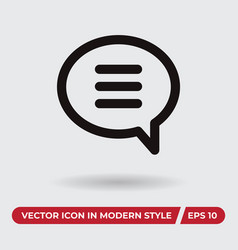 bubble icon in modern style for web site and vector image