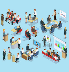 Business Coaching Isometric Collection vector