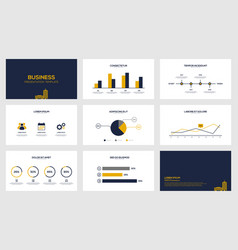 business data visualization modern presentation vector image