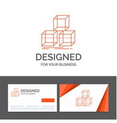 Business logo template for arrange design stack vector