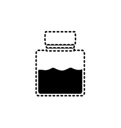 canning jar sticker vector image