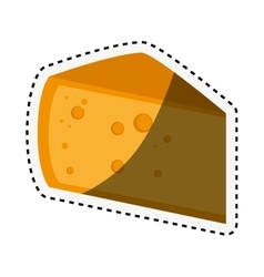 Cheese piece isolated icon vector