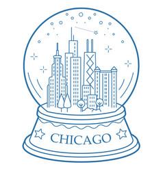 Chicago snow globe vector