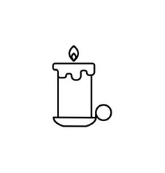 christmas candle outline icon element of new year vector image