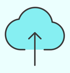 cloud upload line icon minimal 96x96 pictogram vector image
