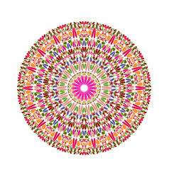 Colorful geometrical abstract round stone pattern vector