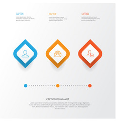 communication icons set collection of web profile vector image