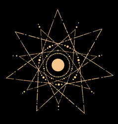 cosmic esoteric composition lines in shape vector image