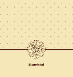 cover oriental-style card cute picture dots vector image