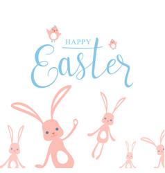 cute pastel color happy vector image