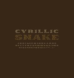 Cyrillic serif font vector