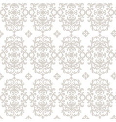 Damask luxury ornament pattern vector image