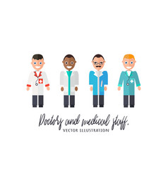 doctors and medical staff vector image