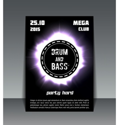 Drum and bass party flyer vector