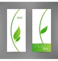 Eco banners templates vector