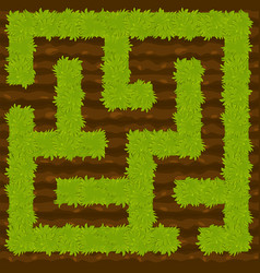 Education logic game bush on ground labyrinth for vector