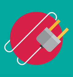 Electric plug flat icon vector