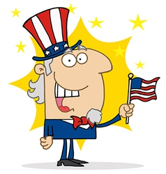 Energetic Uncle Sam vector image