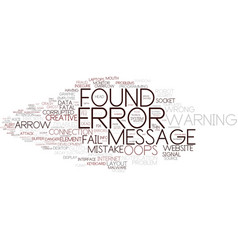Error word cloud concept vector