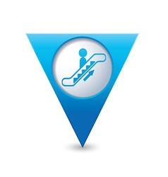 Escalator icon map pointer blue vector