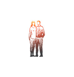 family wife husband couple together vector image