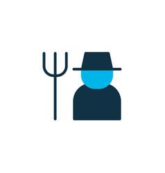farmer icon colored symbol premium quality vector image