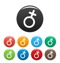 female gender symbol icons set simple vector image vector image