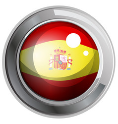 Flag of spain in round icon vector