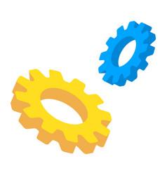 gears isometric mechanical technology vector image