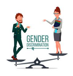 gender discrimination and human comparison vector image