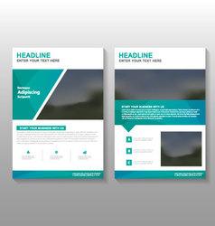 Green elegance leaflet brochure flyer template set vector