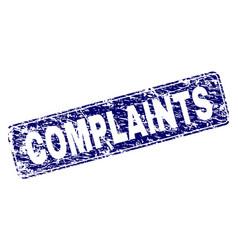 Grunge complaints framed rounded rectangle stamp vector